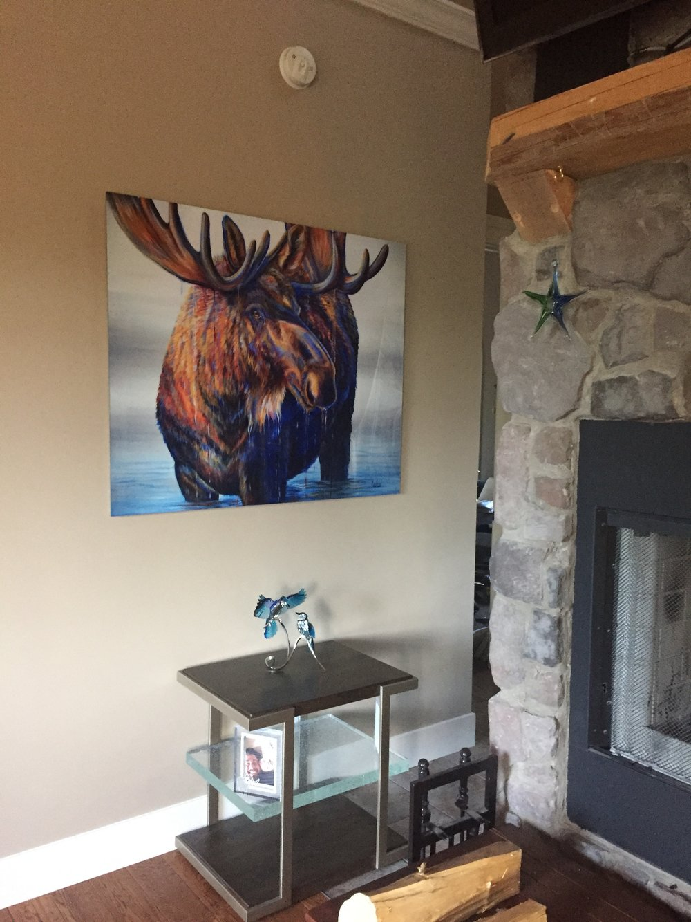 Fine Art Animal Wildlife Moose Paintings and Prints
