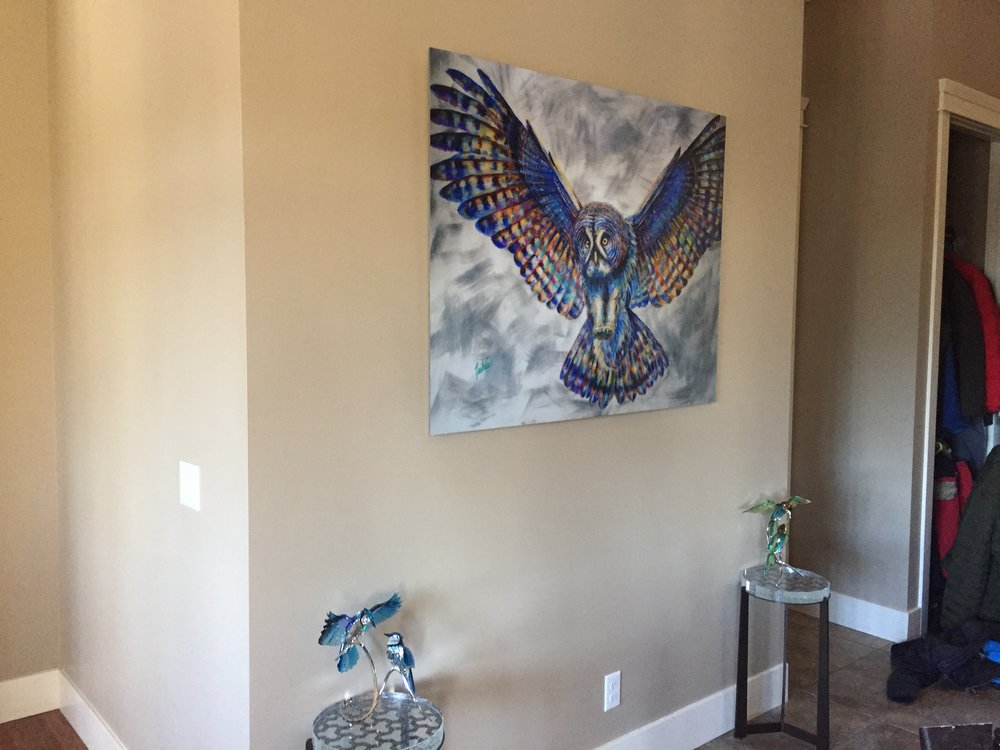 Fine Art Animal Wildlife Owl Paintings and Prints
