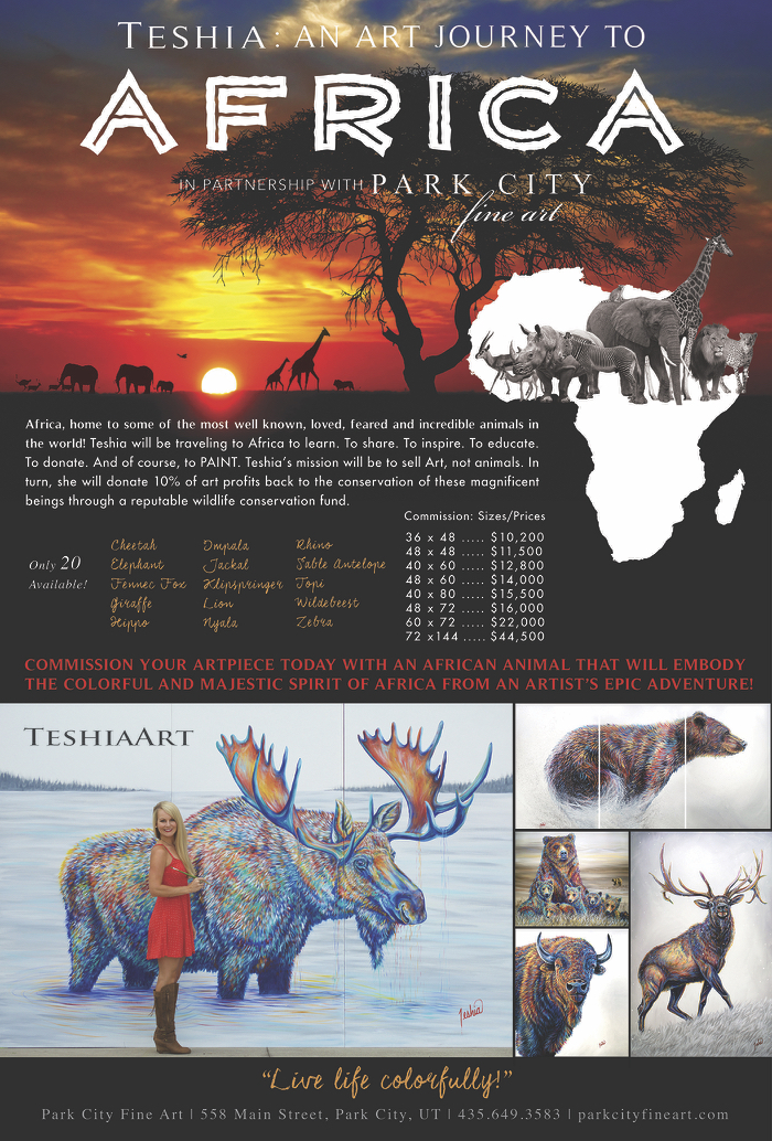 Teshia Art Journey to Africa 2018