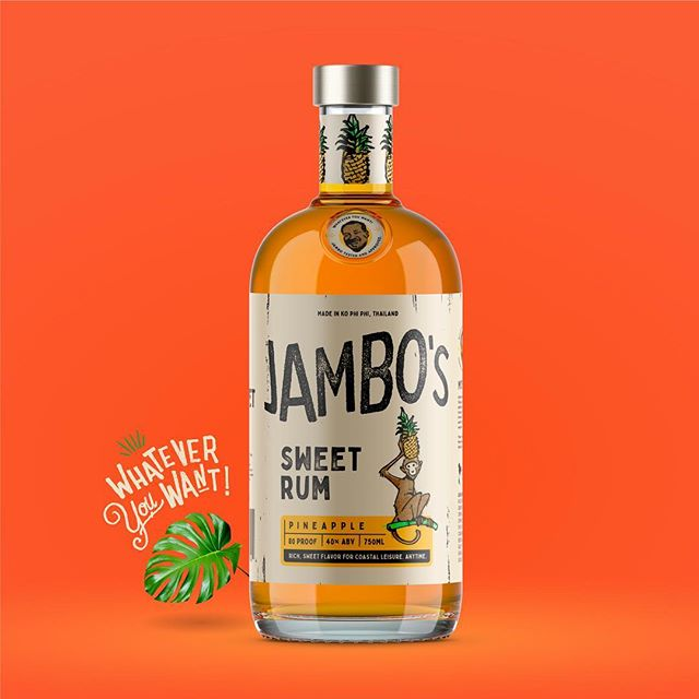 Jambo's Rum co. 🍹a special branding project for a little distillery in Thailand. 3/3 #jambosrum #jambo #rum #branding #packaging #logo #labeldesign #thailand #kophiphi #packagingdesign #foodandbeverage #expowest #thedieline #brand #alcohol #travel #illustration #drawing #outdoors #tropical