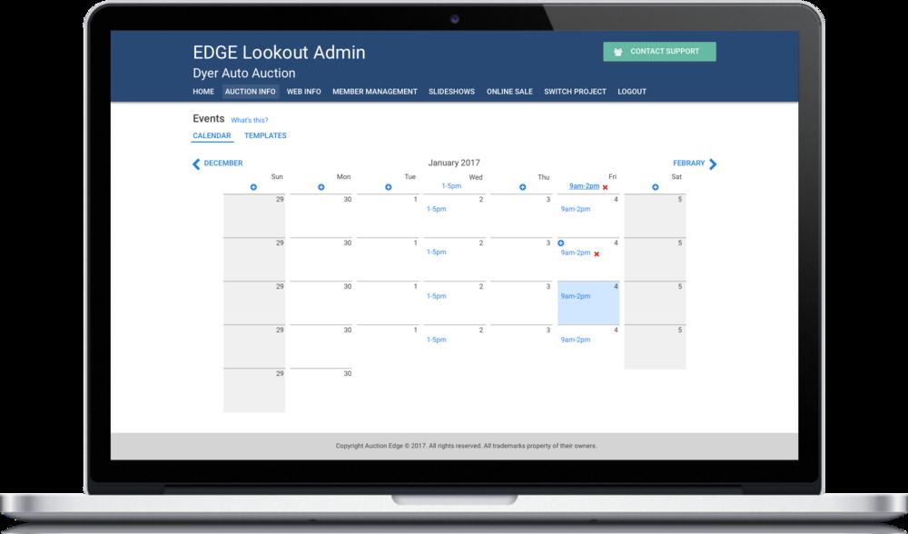 Manage Event Calendar