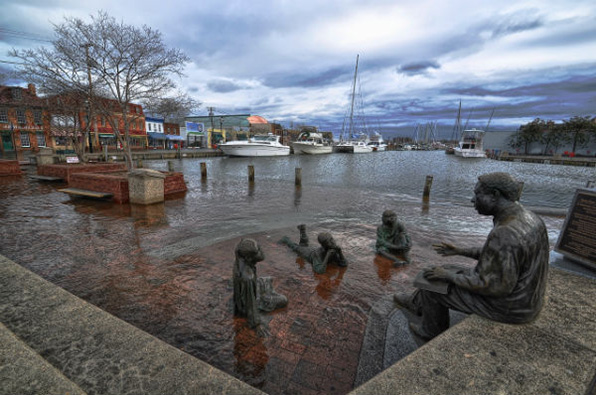 Annapolis, Md., is one of three major East Coast urban areas already being faced with nuisance flooding in excess of 30 days a year. (Amy McGovern/for NOAA)