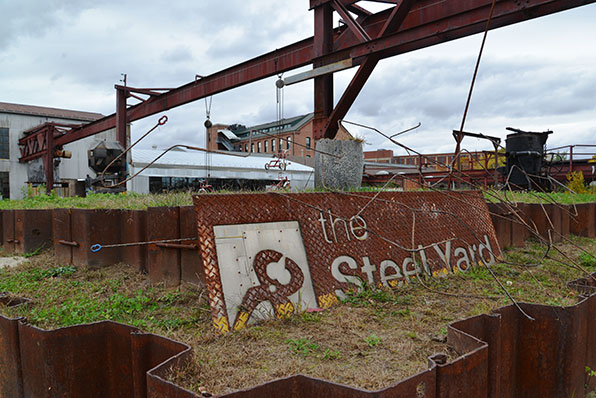 A once heavily polluted property, the Steel Yard is now a Providence attraction.