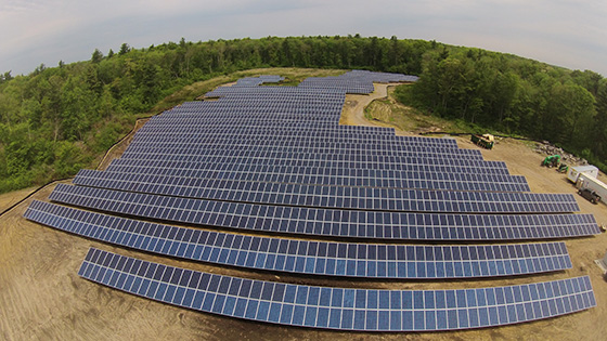 Each of the more than 4,000 solar panels in this Rehoboth field is available to buy for those looking to go solar. (Ron Wedeking/CEC)