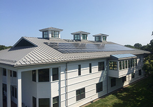The Rocky Hill School's new array of 120 solar panels is expected to produce 41,000 kilowatt-hours annually, and over the system's lifetime it's expected to reduce carbon dioxide emissions by 725 tons. (Rocky Hill School)