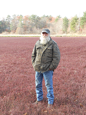 Stephen Ashley is a third-generation cranberry grower. (Sarah Schumann/ecoRI News)