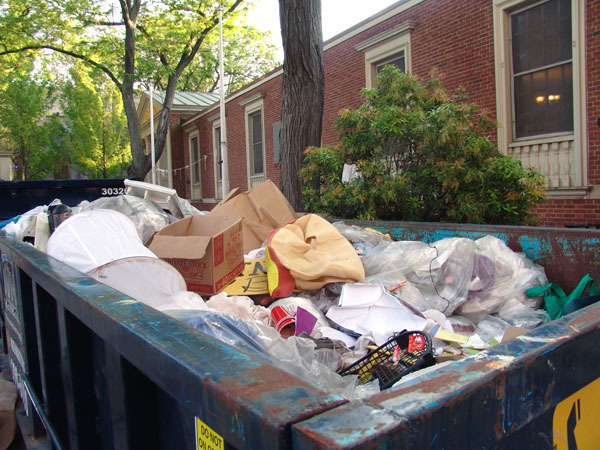Dumpsters on Brown University campus