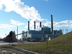 The Brayton Point Power Station is scheduled to close in May 2017. (Joyce Rowley/ecoRI News)