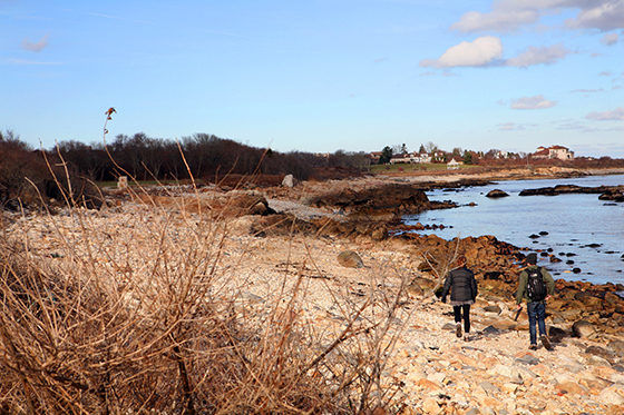 Two attendees who hiked the official opening of Whale Rock Trail on Nov. 30 eventually made their way to Cobble Beach.