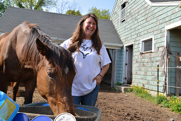 Deidre Sharp founded Horse Play in 1999. The nonprofit provides rescue, rehabilitation, sanctuary and adoption for abused, neglected or unwanted horses. Horses deemed 'unadoptable' live out the rest of their lives at the sanctuary. (Joanna Detz/ecoRI News photos)