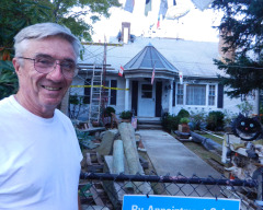 John McNulty won his fight with City Hall and expects to have a new wind turbine on his Newport home in March. (Tim Faulkner/ecoRI News)