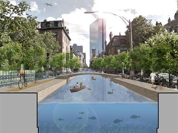 Rising sea levels and increased flooding are problems for communities and historic districts along the southern New England coast, which has some thinking of turning Boston into a city of canals, much like Amsterdam and Venice. (Urban Land Institute)