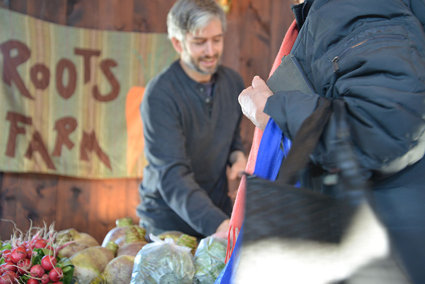 The Mount Hope Farm Farmers Market in Bristol is one of about a dozen markets being held in Rhode Island this winter. (Joanna Detz/ecoRI News)