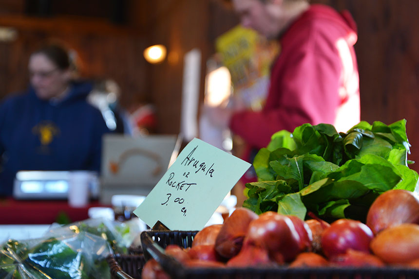 The growing popularity of farmers markets has helped energize the local food movement. (Joanna Detz/ecoRI News)