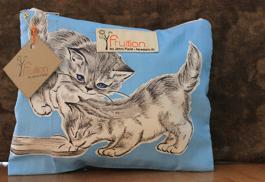 Vintage Kitten, made from 1960s fabric found in her grandmother's attic. (Jenni Field photos)