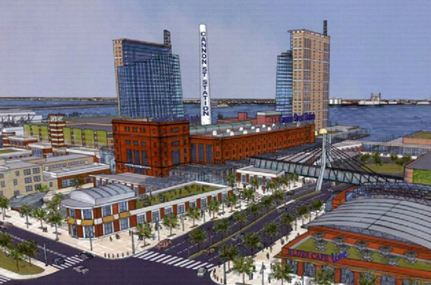 An artist's rendering of the proposed New Bedford casino. Voters will decide if it is to be built. (KG Urban Enterprises)