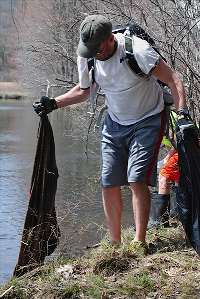 Volunteers filled more than 200 trash bags with debris collected from within the Blackstone River watershed. (BRWA)
