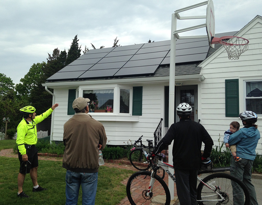 SouthCoast Energy Challenge has held two solar bike tours in Fairhaven, Mass., with the most recent being held May 17. (SouthCoast Energy Challenge)