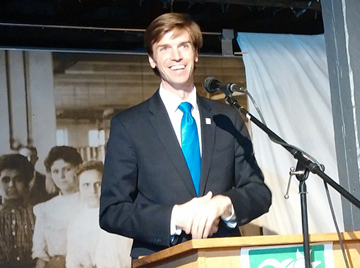 National Wildlife Federation president Collin O'Mara recently spoke at the Environment Council of Rhode Island's annual meeting in Pawtucket. But before that, he spoke with ecoRI News staffer Kevin Proft about a range of environmental topics. (Kevin Proft/ecoRI News)