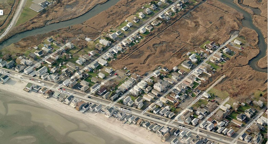 The coastal city of Milford, Conn., with a population of about 53,000, is vulnerable to sea-level rise and other climate-change impacts. Sitting on the shore of Long Island Sound, the city has some 4,000 structures in a floodplain. (city of Milford)