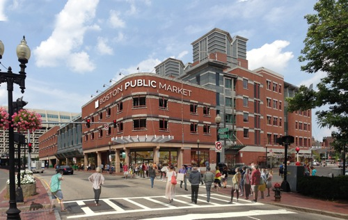 n artist rendering of what the Boston Public Market. The market is scheduled to open July 30. (Boston Public Market)