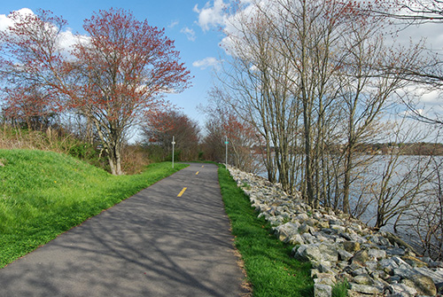 Phase I of the Alfred J. Lima Quequechan River Rail Trail in Fall River, Mass., was finished in 2008. (Creative Commons)