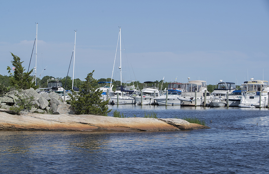 The natural resources of the Pawcatuck River and Little Narragansett Bay play a major role in southern New England's economic success, especially for the boating industry. (Joanna Detz/ecoRI News photos)
