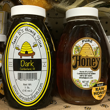 All of the honey sold by Annie B's Honey Farm is from a '200-mile radius,' according to its owner. (Annette Birman)