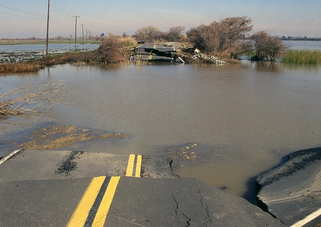 Infrastructure damage caused by more frequent and severe storms is costly. (Army Corps of Engineers)