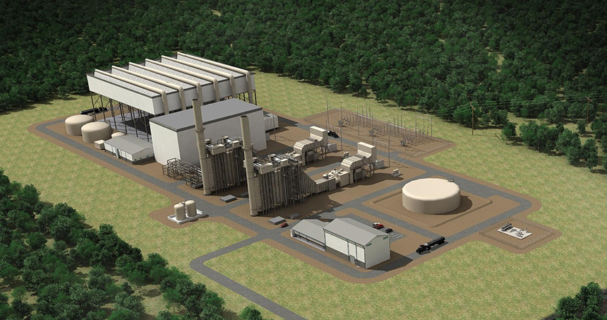 The Chicago-based company building the Clear River Energy Center in Burrillville, R.I., claims the natural-gas power plant will save ratepayers millions and reduce greenhouse-gas emissions. Project opponents are highly skeptical. (Invenergy)