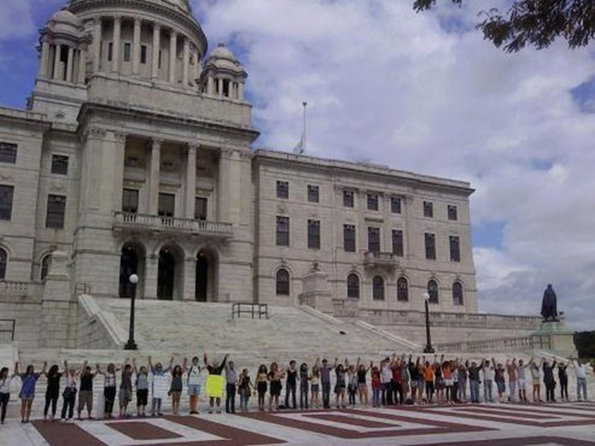 Despite urging from environmental groups and scientists to set climate-change policy based on scientific research, Rhode Island lawmakers often weaken climate-change bills before passing them, or refuse to vote on them altogether, according to those who attended a rally outside the Statehouse last summer. (ecoRI News)