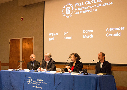 A panel of experts recently spoke at Salve Regina University about the U.S. criminal justice system. (Pearl Macek/ecoRI News)