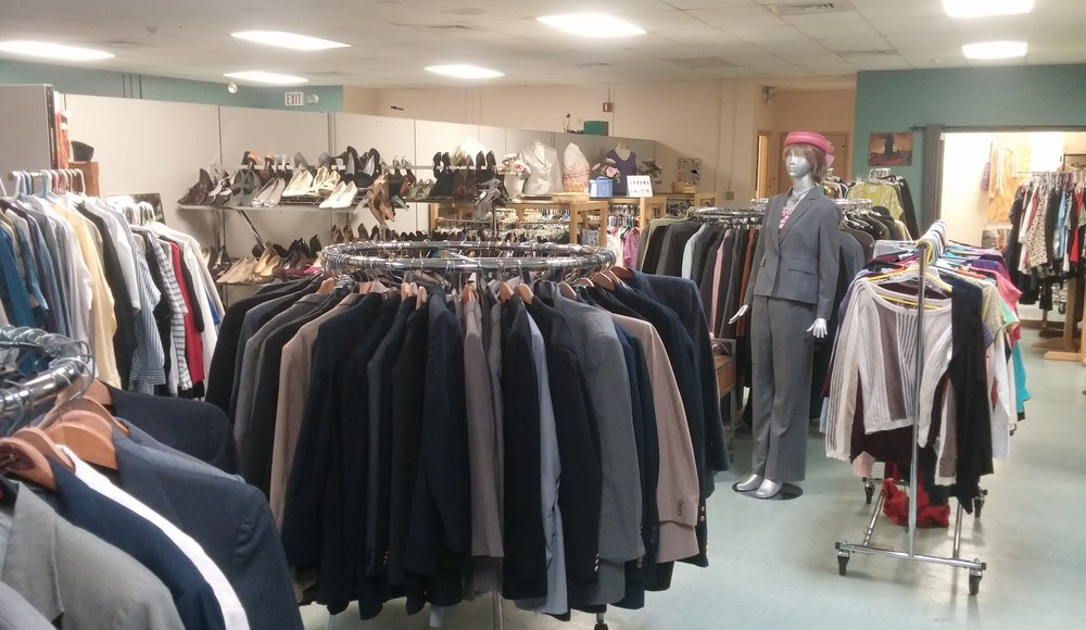 The Clothing Collaborative provides donated business attire to low-income people for job interviews. (Kevin Proft/ecoRI News)