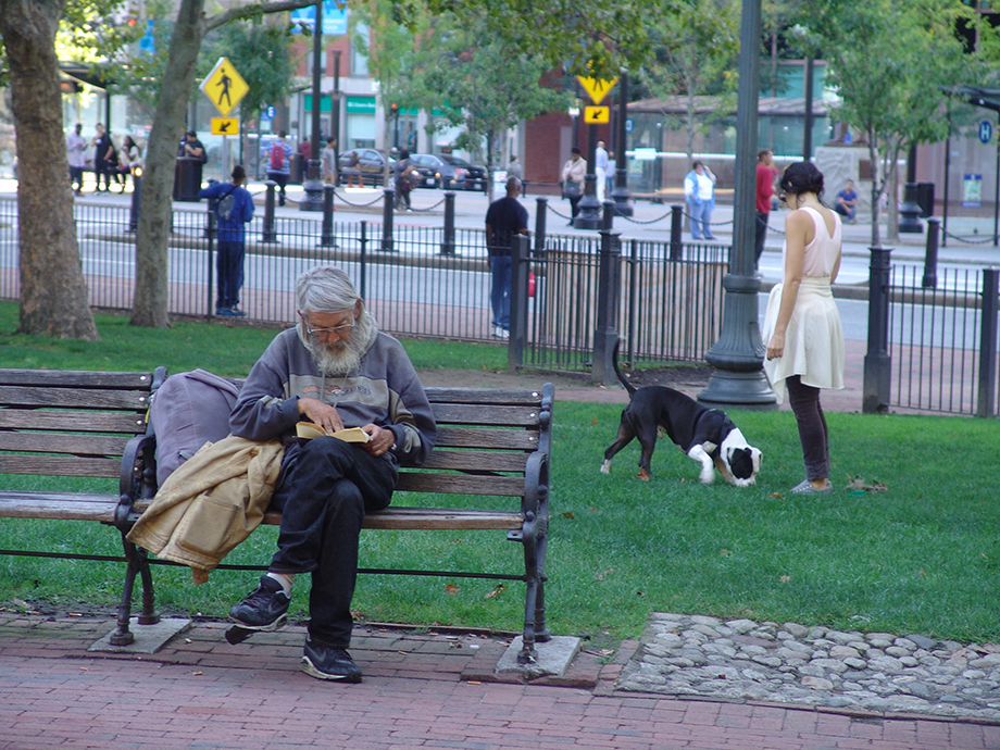 Providence's Burnside Park is used by a diverse population of people to rest, relax and play, as this late-September weekday showed.