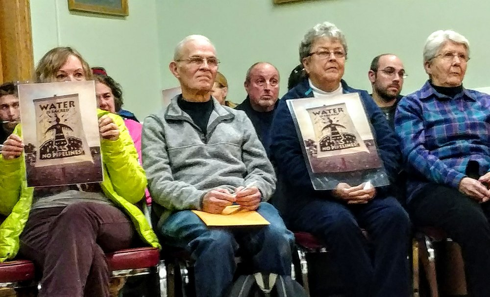 Water is the main issue regarding the future of the proposed Clear River Energy Center in Burrillville, R.I. Opponents spoke out at the Dec. 19 Woonsocket City Council meeting. (Tim Faulkner/ecoRI News)