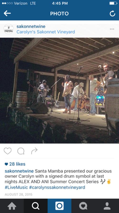 A 2015 vineyard concert. (Instagram/Carolyn's Sakonnet Vineyard)