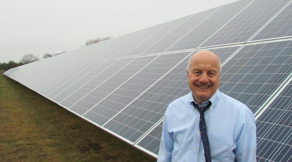 Frank Epps of Energy Development Partners is building more solar arrays in Rhode island (Tim Faulkner/ecoRI News)