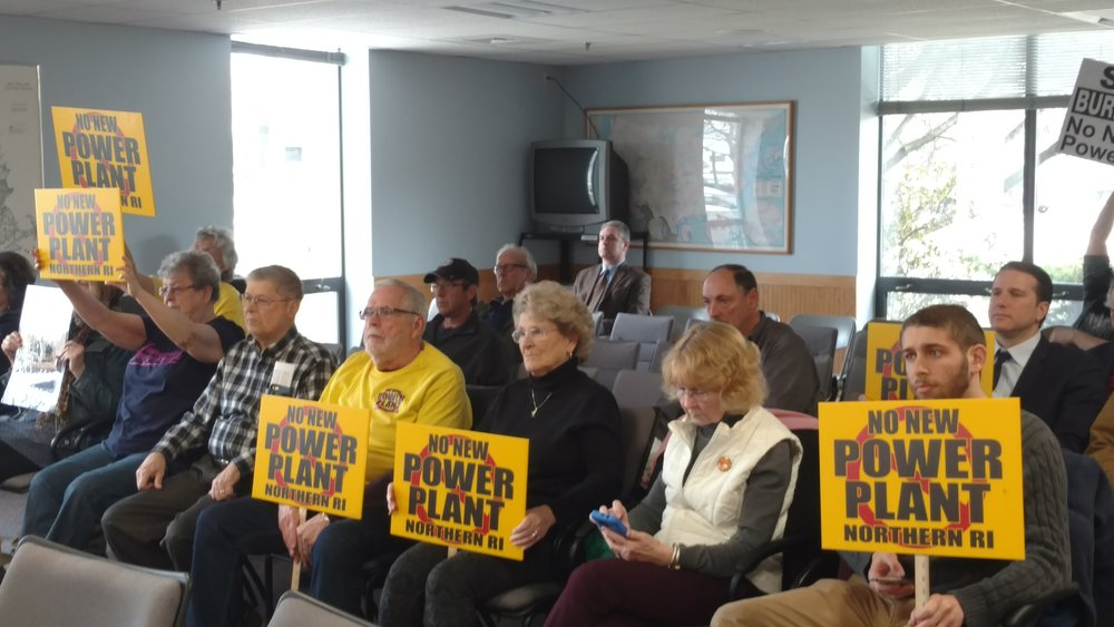 Opponents of the project attended the March 21 meeting.