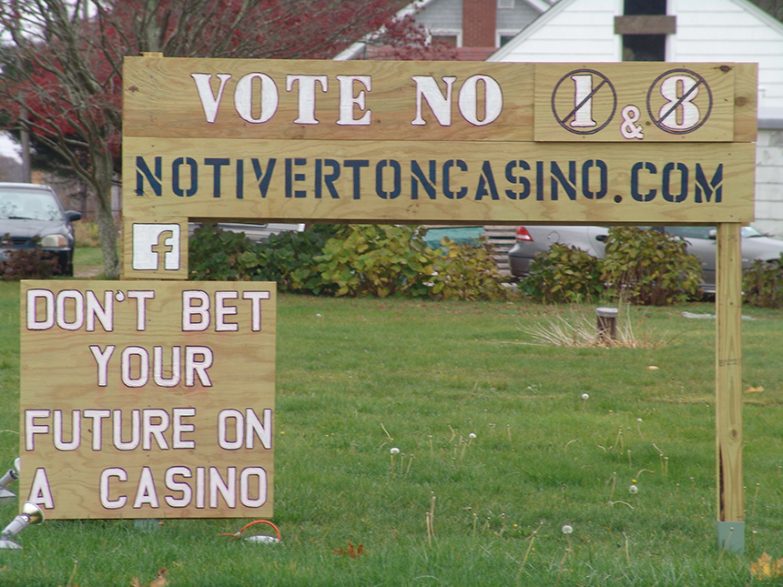 Despite plenty of opposition, including from Stafford Road neighbors, voters last year approved both the local and statewide ballot questions to build a casino in Tiverton, R.I. (Frank Carini/ecoRI News)