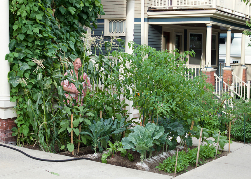 Providence resident Stewart Martin's passion for science and art have come in handy with his desire to promote urban gardening and composting. (Courtesy photo)