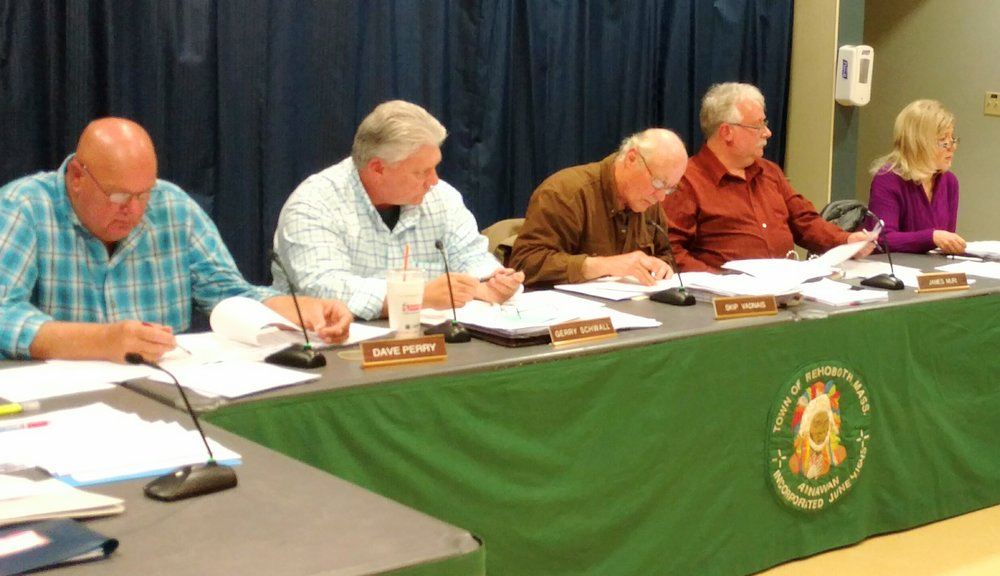 Despite the vote against the natural-gas compressor station, the Rehoboth Board of Selectmen isn't sure how it will respond. (Tim Faulkner/ecoRI News staff)