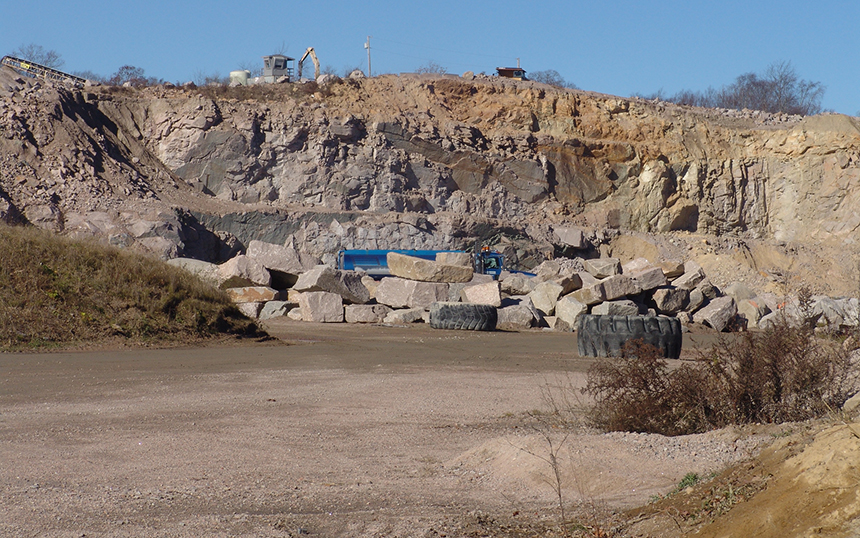 Westerly's three quarries produced 11.5 tons of silica-dust and diesel-soot emissions in 2011. (Frank Carini/ecoRI News photos)