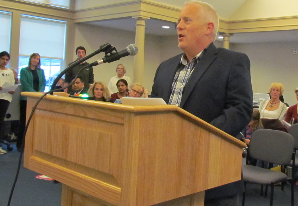 Dave McLaughlin of Clean Ocean Access spoke before the Town Council.