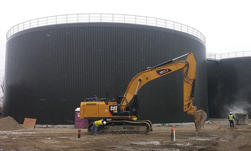 Construction of the state's first anaerobic digester began in 2015. (ecoRI News)