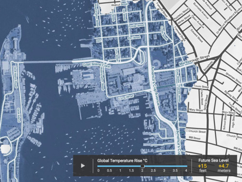 The graduate students used augmented- and virtual-reality technology to present futuristic visions of Newport's historic Point Neighborhood, which is increasingly threatened by the effects of climate change. (RISD)