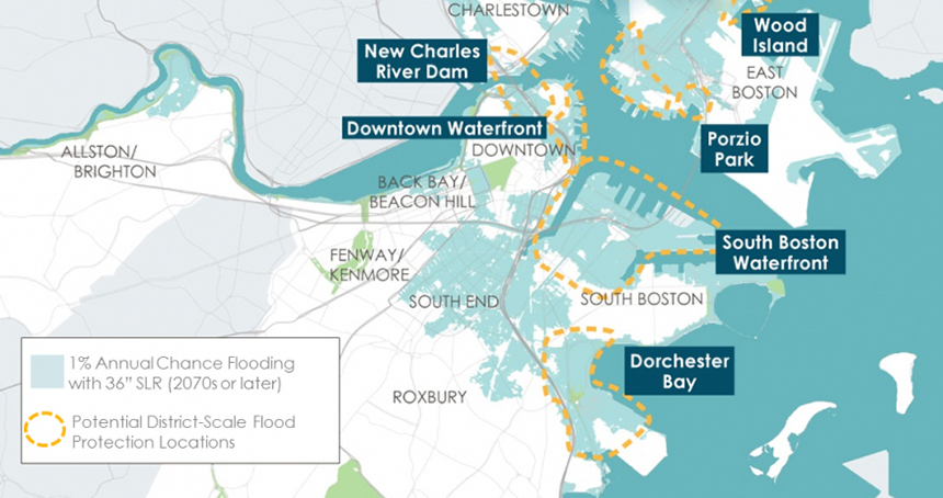 The Climate Ready Boston report identifies areas that are at the highest risk of coastal flooding.