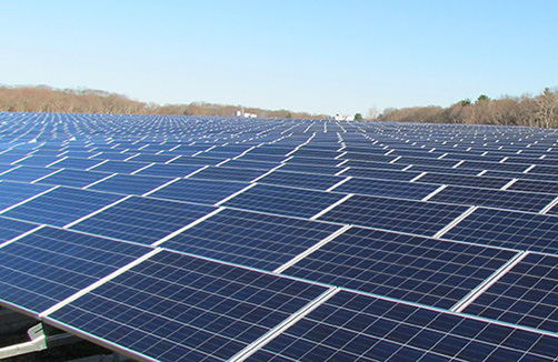 East Providence covered a former landfill with 13,000 solar panels. (ecoRI News)