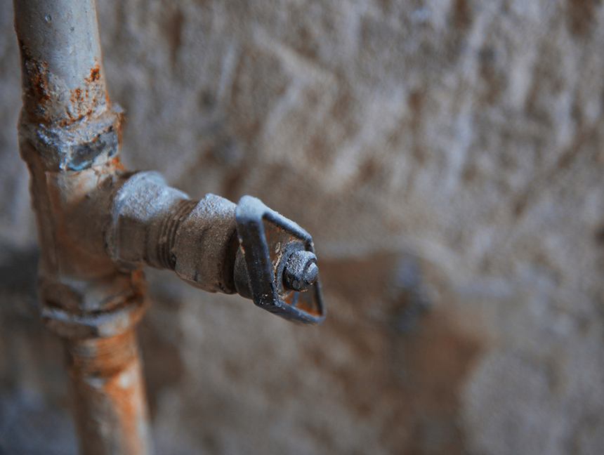 Lead from service pipes, soldering, fixtures and other hidden sources leaches into drinking water. (istock)