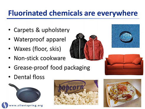 Compounds found in these products were discovered in Cape Cod drinking water in 2010 by the Silent Spring Institute.