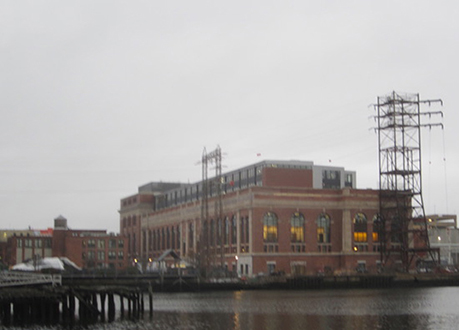 On the Providence waterfront, a power-plant-turned-academic-building thanks to adaptive reuse.
